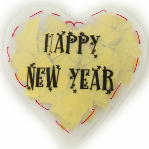 Konfetti Herzen Happy  transparent New Year Confetti