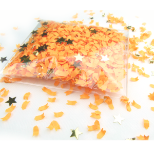 confetterie sensation orange confetti 5